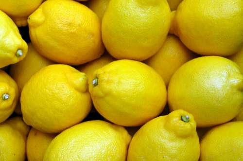 Lemons Yellow Food Fruit Fresh Citrus Organic