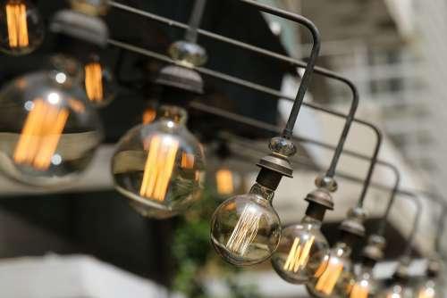 Light Bulbs Electricity Energy Bright Creativity