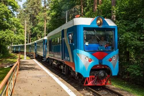 Locomotive Diesel Locomotive Cars Train