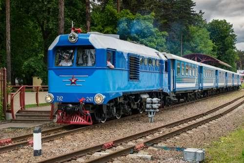 Locomotive Diesel Locomotive Rails Train Cars