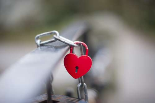 Love Symbol Love Bridge Padlock Love Locks Bridge
