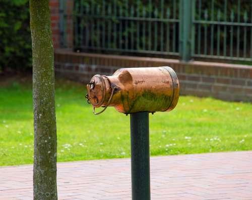 Mailbox Brass Milk Can Inbox Polished Bronze