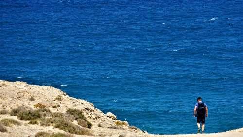 Man Ocean Hiking Sea Nature Reserve Island Coast
