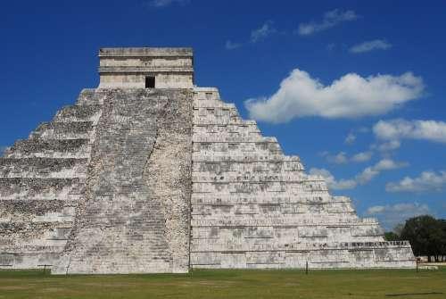 Maya Mexico Pyramid Historical Culture Ancient