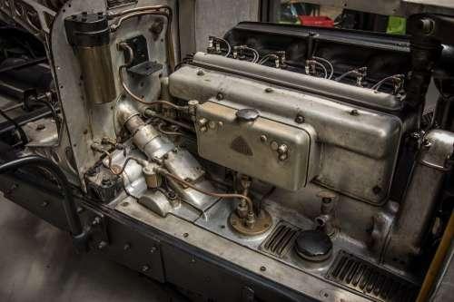 Maybach Car Engine Oldtimer Automotive Cylinder