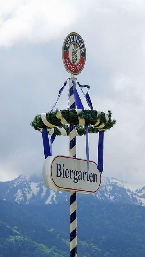 Maypole May Day Customs Bavaria Mountains