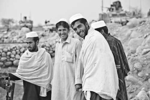 Men People Smiling Portrait Group Persons Muslim