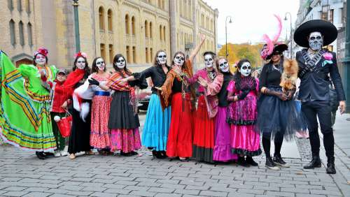 Mexican Festival Culture Traditional Dead Skull