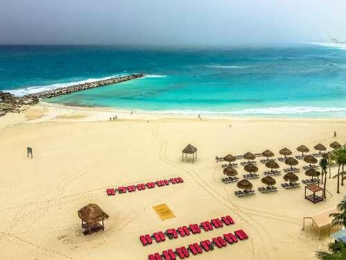 Mexico Cancun Caribbean Travel Beach Water