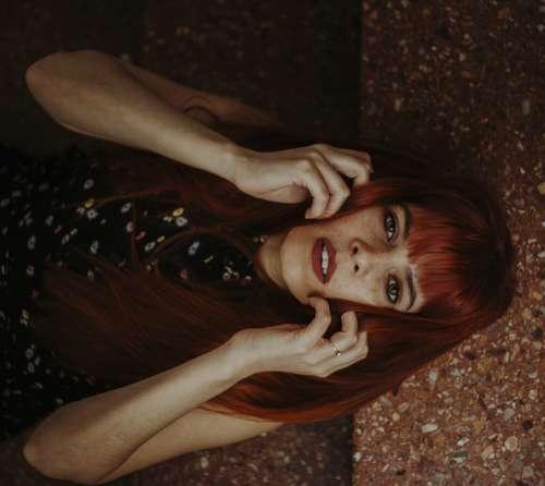 Model Women Eyes Redhead Autumn Portrait