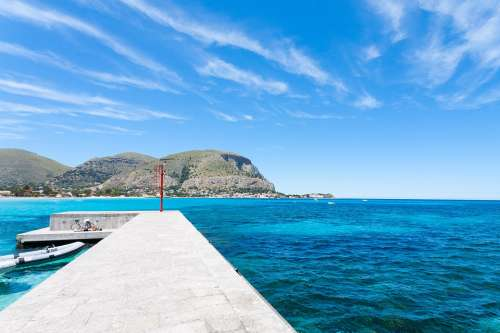 Mondello Palermo Pier Sea Fanale Holidays Italy