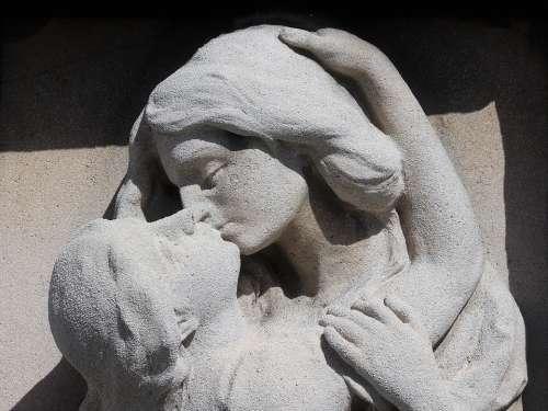 Monument White Stone Sculpture Mirogoj Cemetery