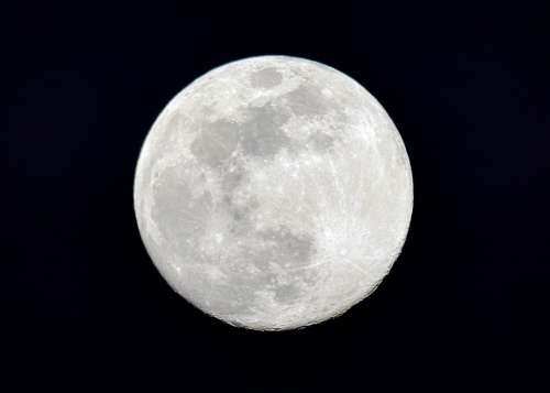 Moon Night Full Moon Moonlight Dark Astronomy