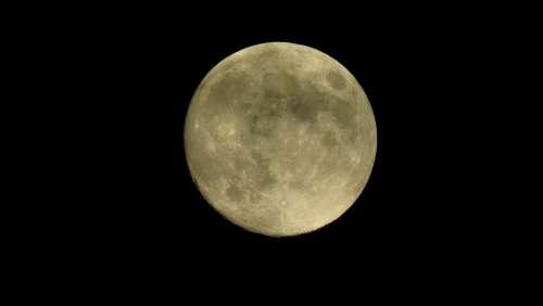 Moon Full Moon Night Darkness Mysterious Cosmos