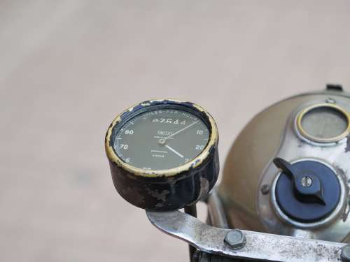 Motorcycle Oldtimer Speedometer Classic Old
