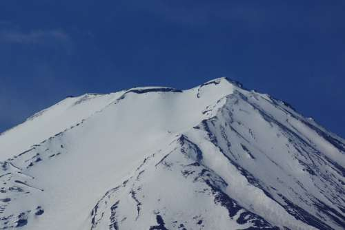 Mt Fuji Mountain Top Snow Mountain