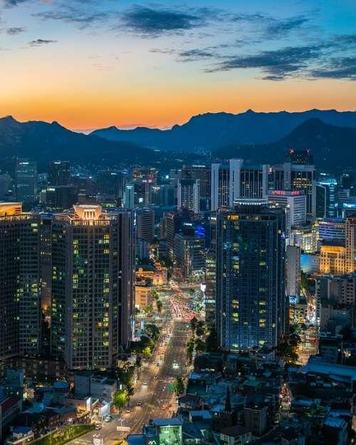 Myeongdong Seoul South Korea Namsan Tower Korean
