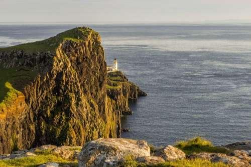 Neist Point Lighthouse Highlands Europe Hill