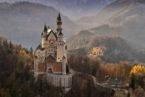 Neuschwanstein Castle Germany Landmark Architecture