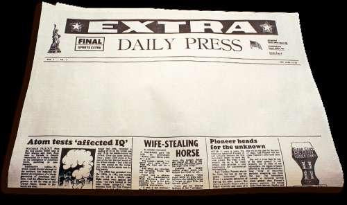 Newspaper Extra Extra Daily Paper News Culture