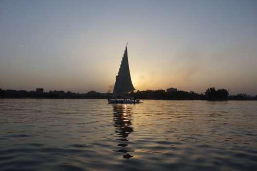 Nile Egypt Cairo Africa Sailing Boat