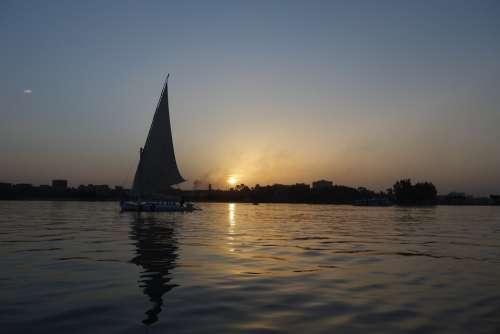 Nile Egypt Cairo Africa Boat Sailing