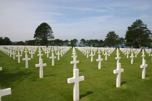 Normandy Commemorate Cemetery Cross War
