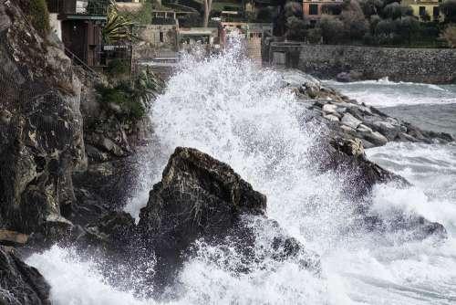 Onda Sea Liguria Italy Landscape Tourism Water