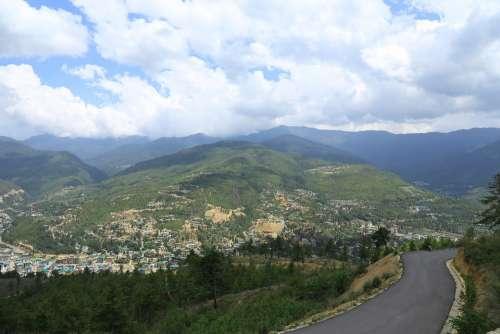 Outdoors Bhutan Landscape Travel Tourism Scenic