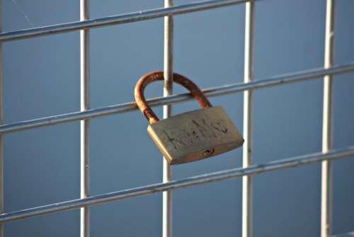 Padlock Promise Love Symbol Heart Padlocks Bridge