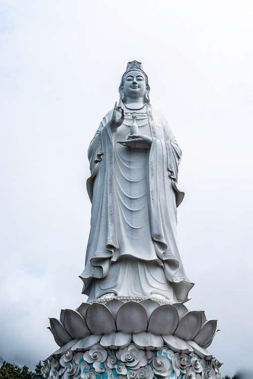 Pagoda Statue Bodhisattva Da Nang Vietnam