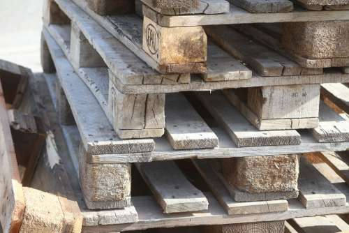 Pallets Wood Logistics Euro Pallets Stacked