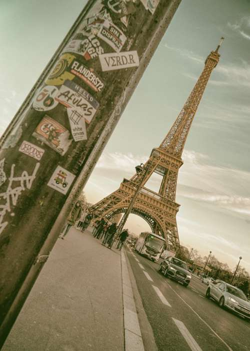 Paris Eiffel Tower France Street Vintage