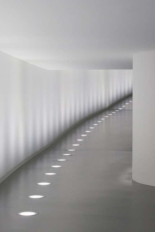 Passage Tunnel Walls Shadow Light Concrete