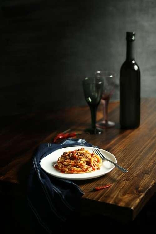 Pasta Lunch Breakfast Dinner Wine Alcohol