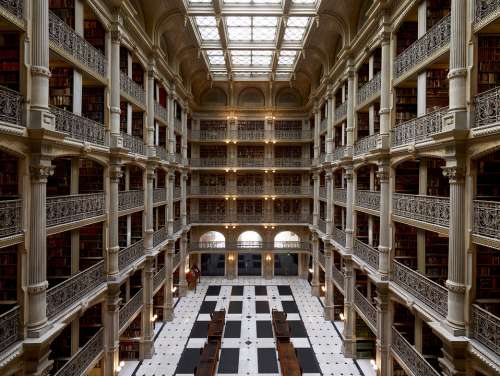 Peabody Institute Baltimore Usa Building Library