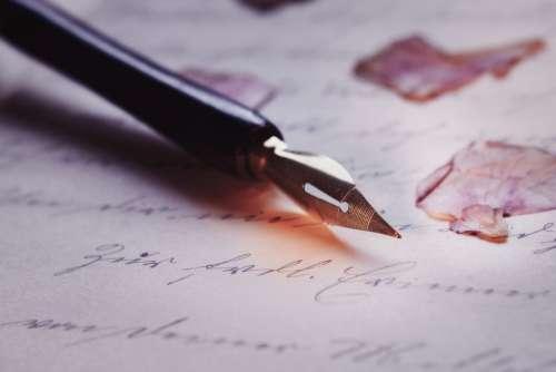 Pen Font Macro Calligraphy Fountain Pen