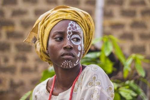 People Woman Face Portrait Face Paints Authentic