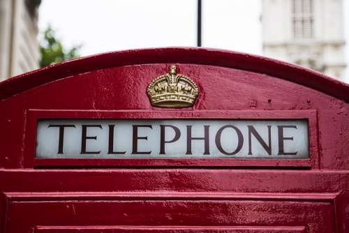 Phone Booth Telephone Public Phone Booth Red Logo