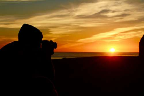 Photographer Shadow Sunset Photograph Profession