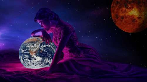 Photomontage Space Relaxation Surreal Mysterious