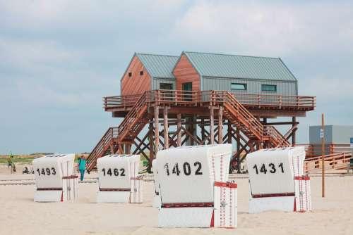 Pile Construction North Sea Spo Beach Chair Mood