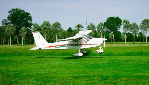 Plane Ultralight Flight Aviation Fly Takeoff
