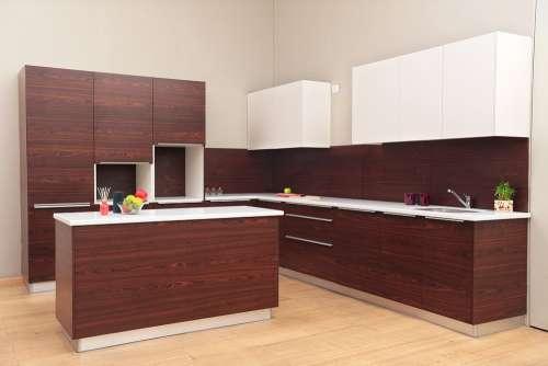 Planmyinterior Kitchen Veneer Pu Island Kitchen