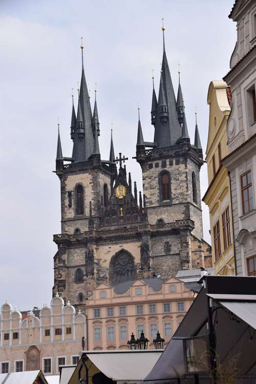 Prague Church Tourism Middle Ages Tower
