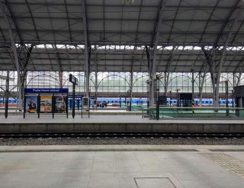 Prague The Main Railway Station Railway