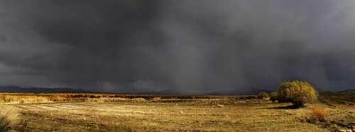 Prairie Dark Clouds Autumn