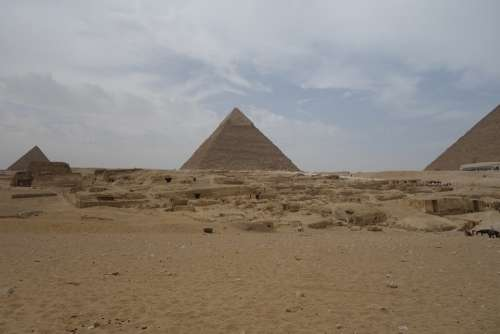 Pyramids Giza Egypt Pyramid Cairo Desert Ancient