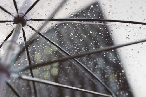 Rain Umbrella Plastic Water Cold Weather Building