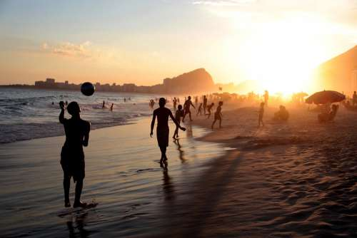 Rio Brasil People Soccer Football Beach Ball